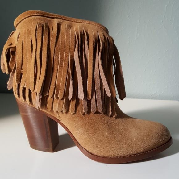 e17395805 Frye Shoes   New Ilana Fringe Short Boots Free People 6   Poshmark